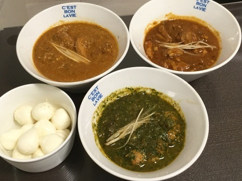 江東区ハビビハラルレストラン手作りインドカレー3種