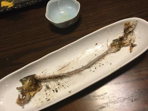 小田急相模原日本料理魚酔庭鮎の塩焼き完食