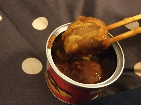 大阪名物たこ焼き缶詰断面