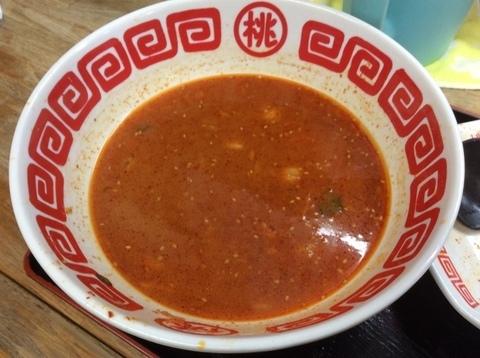 神川桃太郎ラーメン鬼ラーメンスープ